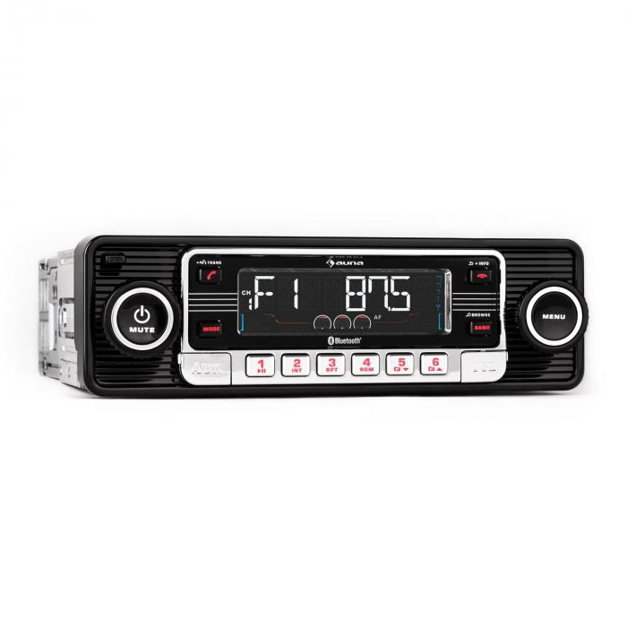rmd sender one autoradio bluetooth usb sd mp3 aux cd retro. Black Bedroom Furniture Sets. Home Design Ideas