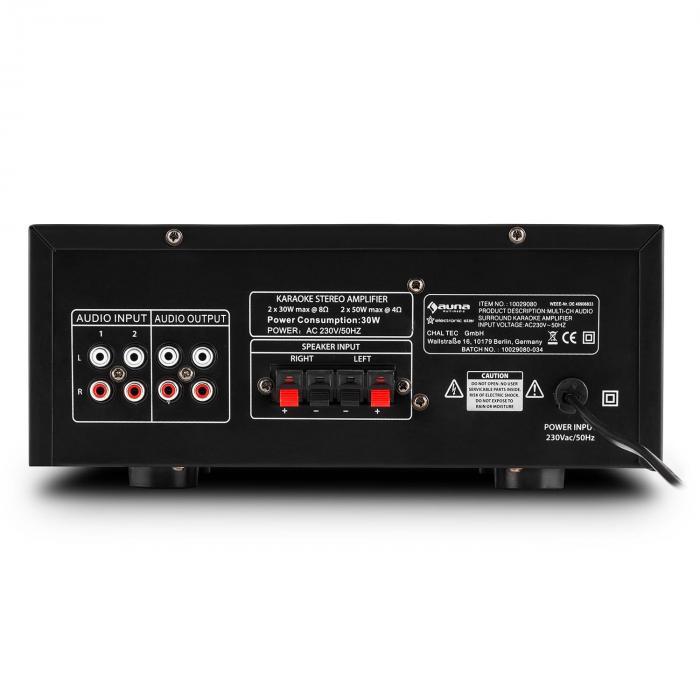 Amp 2 Hifi Karaoke Amplifier 100w Max Usb Sd Mp3