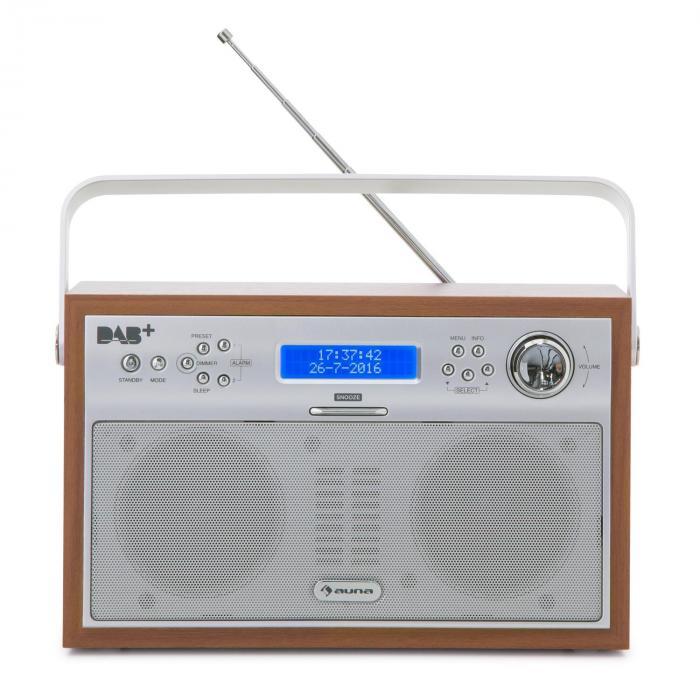 Akkord Digital Radio Portable DAB+/PLL-FM Radio Alarm LCD ...
