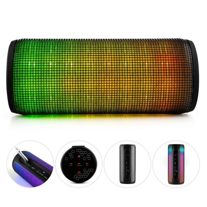 dazzl pro enceinte bluetooth 4 0 sans fil jeu de lumi re led usb micro sd. Black Bedroom Furniture Sets. Home Design Ideas