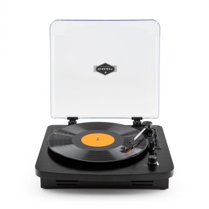 tt370 tourne disque platine vinyle r tro haut parleurs int gr s usb mp3 aux noir noir. Black Bedroom Furniture Sets. Home Design Ideas