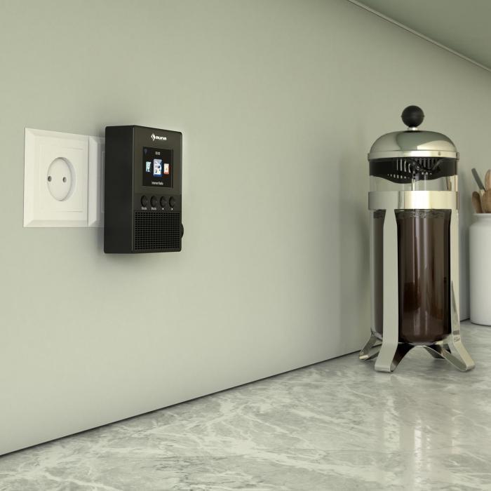 digi plug steckdosen internetradio 2 4 tft app steuerung wlan schwarz schwarz online kaufen. Black Bedroom Furniture Sets. Home Design Ideas