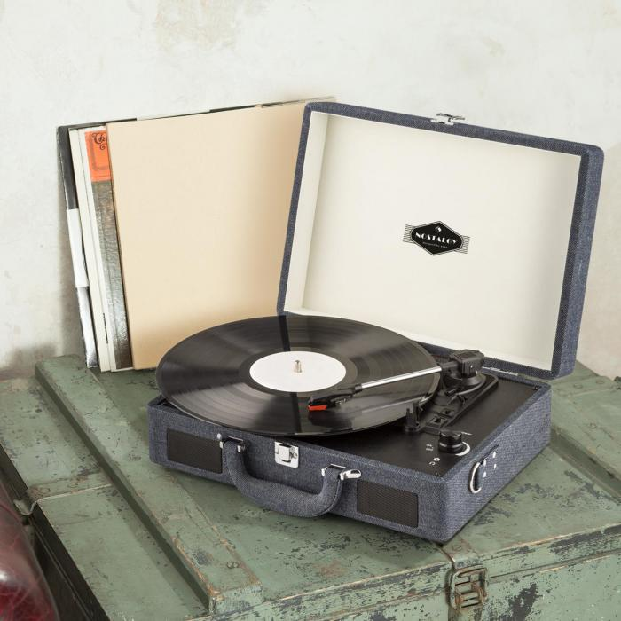 peggy sue platine disque vinyle usb design r tro blue jean. Black Bedroom Furniture Sets. Home Design Ideas