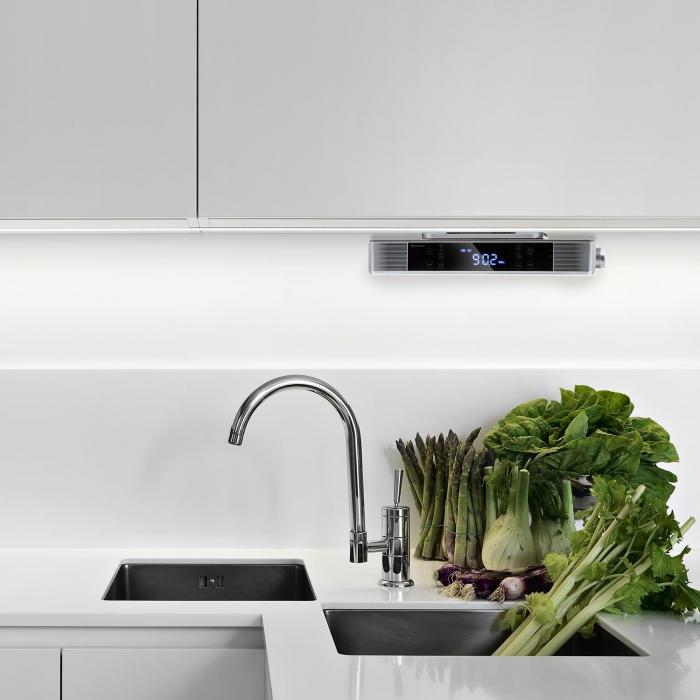 KR-140 BluetoothRadio Da Cucina Funzione Vivavoce Tuner VHF Luce LED ...