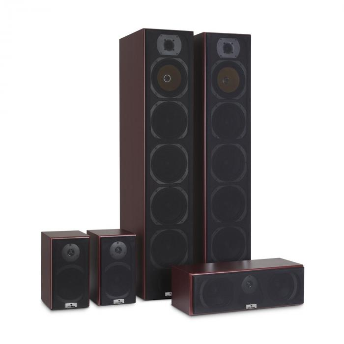 v9b surround lautsprecher set 5 boxen set 440w rms mahagoni online kaufen. Black Bedroom Furniture Sets. Home Design Ideas