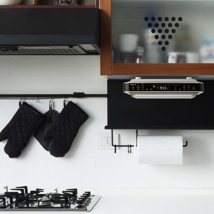 Under Cabinet Kitchen Radio: KRCD-100 BTKitchen Under Cabinet Radio CD MP3 Radio Black