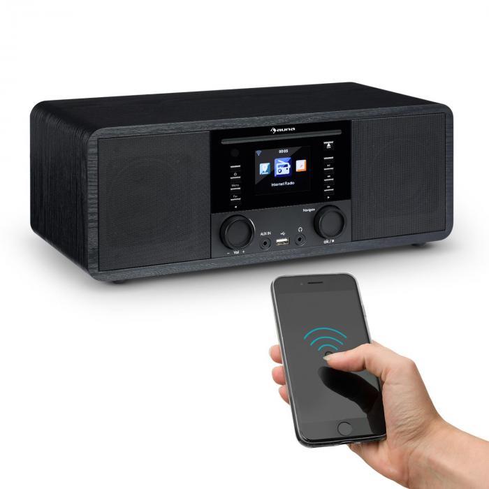 ir 190 radio internet bluetooth lecteur cd wifi upnp usb. Black Bedroom Furniture Sets. Home Design Ideas