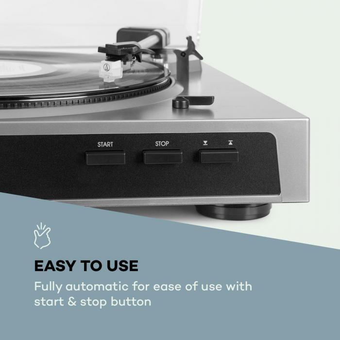 fullmatic platine disque vinyle automatique usb pr ampli argent argent. Black Bedroom Furniture Sets. Home Design Ideas