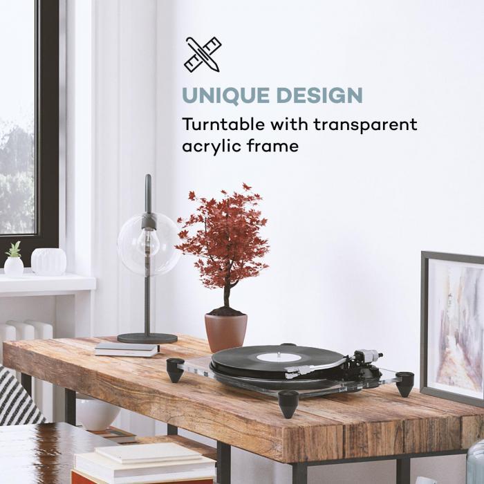 auna tt pure platine vinyle 33 1 3 45t mn pr ampli. Black Bedroom Furniture Sets. Home Design Ideas