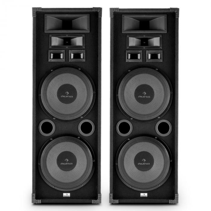 speakers set. pa-2200 full range set of 2 pa speakers 2x12\