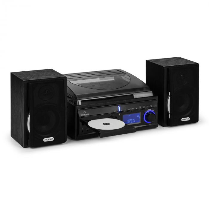 ds 2 cha ne hifi platine vinyle cd enregistreur usb sd aux in fm enceintes. Black Bedroom Furniture Sets. Home Design Ideas