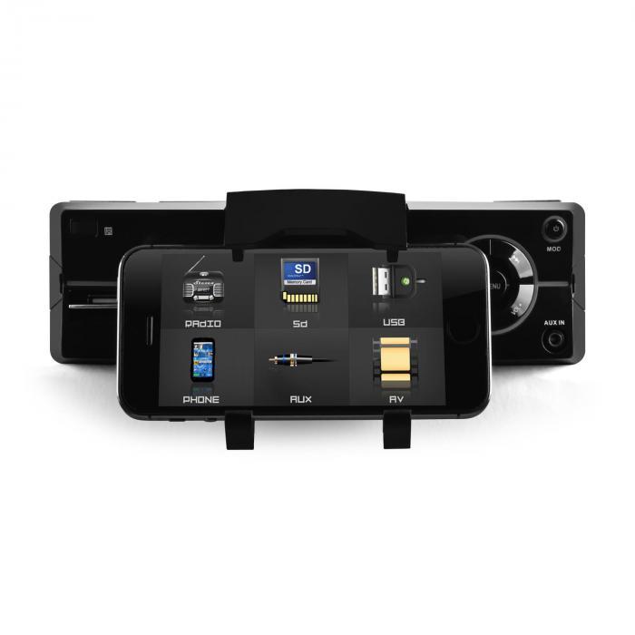 md 640 bluetooth car stereo radio sd usb smartphone holder. Black Bedroom Furniture Sets. Home Design Ideas