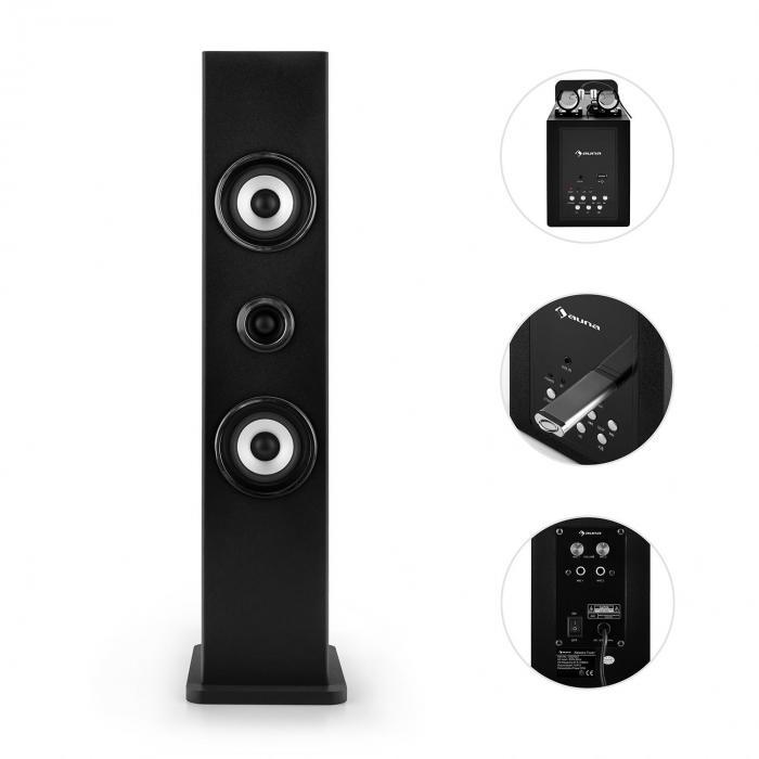 karaboom bluetooth lautsprecher usb aux karaoke 2 x. Black Bedroom Furniture Sets. Home Design Ideas