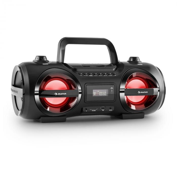auna Soundblaster Stereo Boombox Bluetooth 3.0 CD/MP3/USB ...