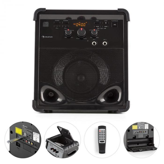 rockstage lecteur karaok bluetooth cd g usb mp3 piles 2 x micro. Black Bedroom Furniture Sets. Home Design Ideas