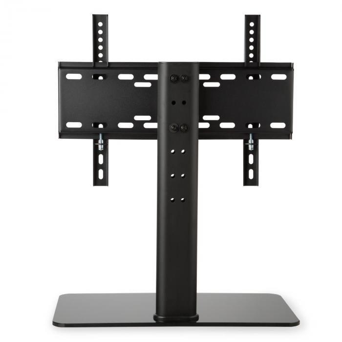tv stand size m height 60 cm height adjustable 23 47 inches glass base black 23 47 inch glass. Black Bedroom Furniture Sets. Home Design Ideas