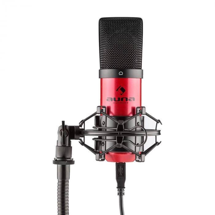 mic 900rd usb microphone set v1 red condenser microphone tabletop stand. Black Bedroom Furniture Sets. Home Design Ideas
