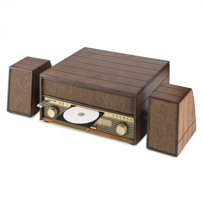 epoque 1909 syst me audio r tro tourne disque cassette bluetooth usb cd aux. Black Bedroom Furniture Sets. Home Design Ideas