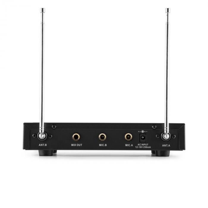 how to connect vhf wireless microphone