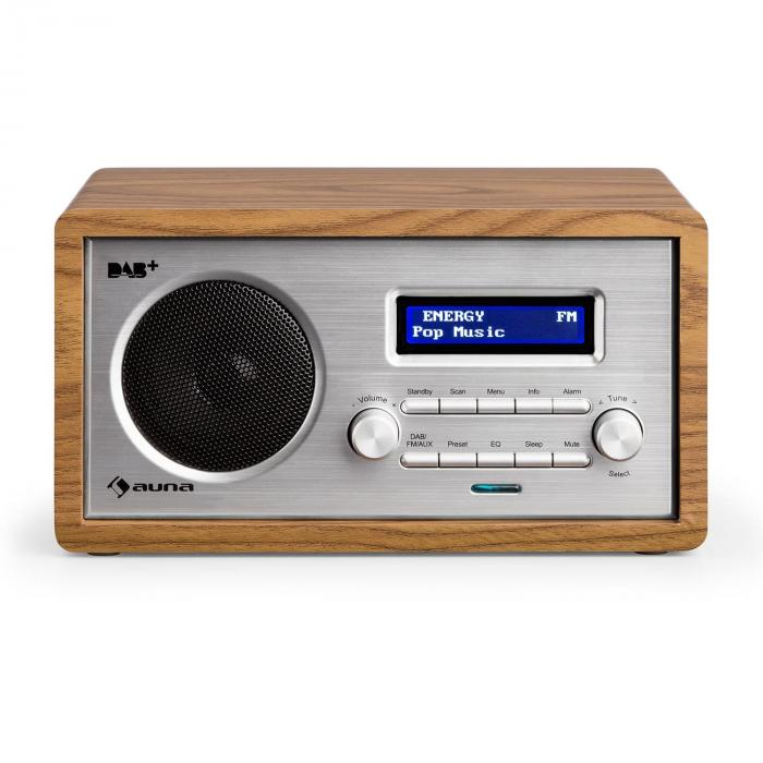 harmonica dab fm radio dual alarm aux lcd wooden. Black Bedroom Furniture Sets. Home Design Ideas