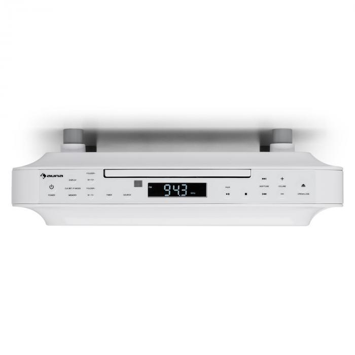 Under Kitchen Cabinet Radio: KRCD-100 BTKitchen Under Cabinet Radio CD MP3 Radio White