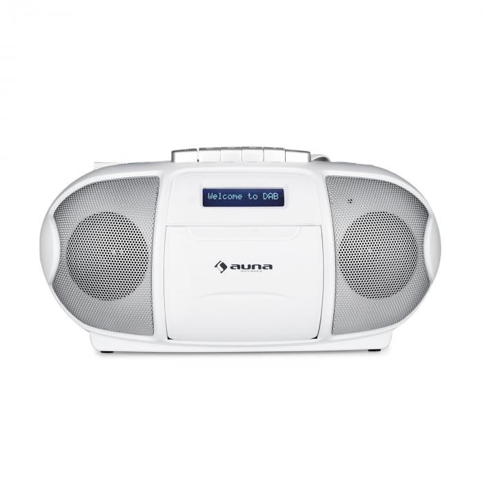 beeberry dab boombox radio portable lecteur k7 usb cd mp3 fm dab blanc blanc. Black Bedroom Furniture Sets. Home Design Ideas