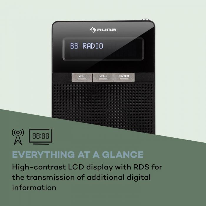 digiplug fm steckdosen radio ukw pll bt lcd display schwarz online kaufen. Black Bedroom Furniture Sets. Home Design Ideas