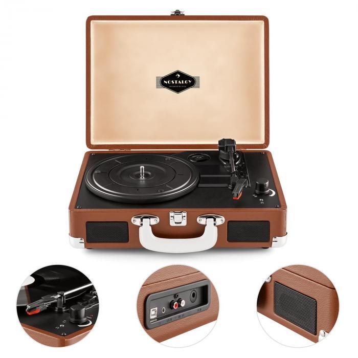 peggy sue record collector set tourne disque r tro valise vinyles marron. Black Bedroom Furniture Sets. Home Design Ideas