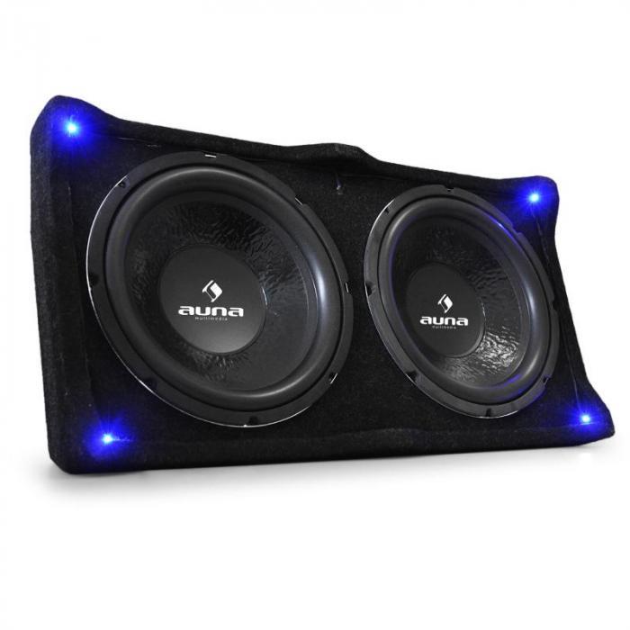 double caisson de basses 12 sub sono 2 x 800w auto hifi. Black Bedroom Furniture Sets. Home Design Ideas