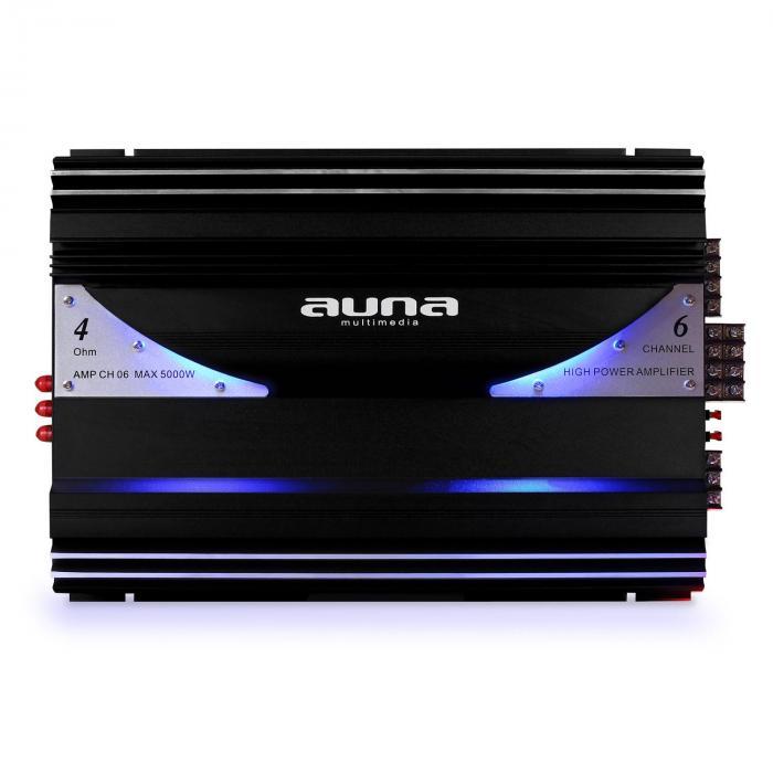 amp ch06 6 kanal verst rker auto endstufe 570w rms 5000w max. Black Bedroom Furniture Sets. Home Design Ideas