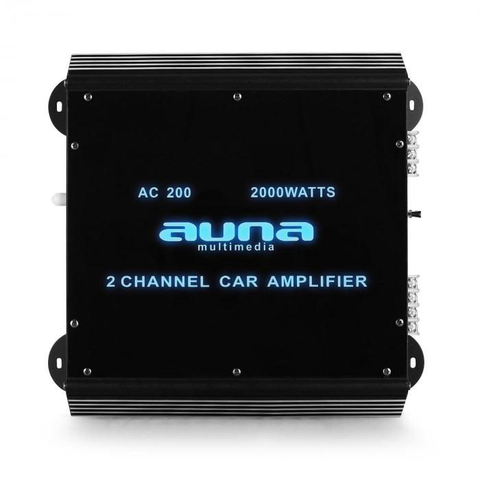 w2 ac200 2 channel car amplifier with led lights 2000w 2 0 purchase online. Black Bedroom Furniture Sets. Home Design Ideas
