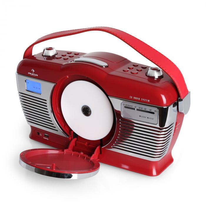 Rcd 70 retro vintage portable radio fm cd mp3 usb battery - Porta cd auto simpatici ...