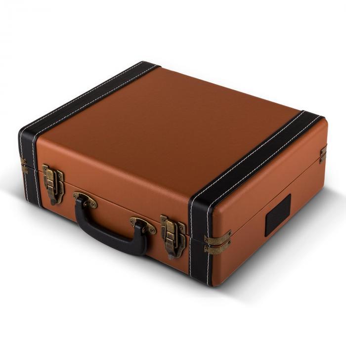 jerry lee record collector set tourne disques r tro valise vinyles marron. Black Bedroom Furniture Sets. Home Design Ideas