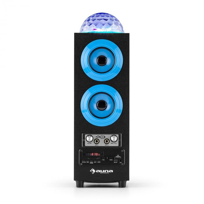discostar blue enceinte portable bluetooth 2 1 usb sd ukw aux led bleue bleu. Black Bedroom Furniture Sets. Home Design Ideas