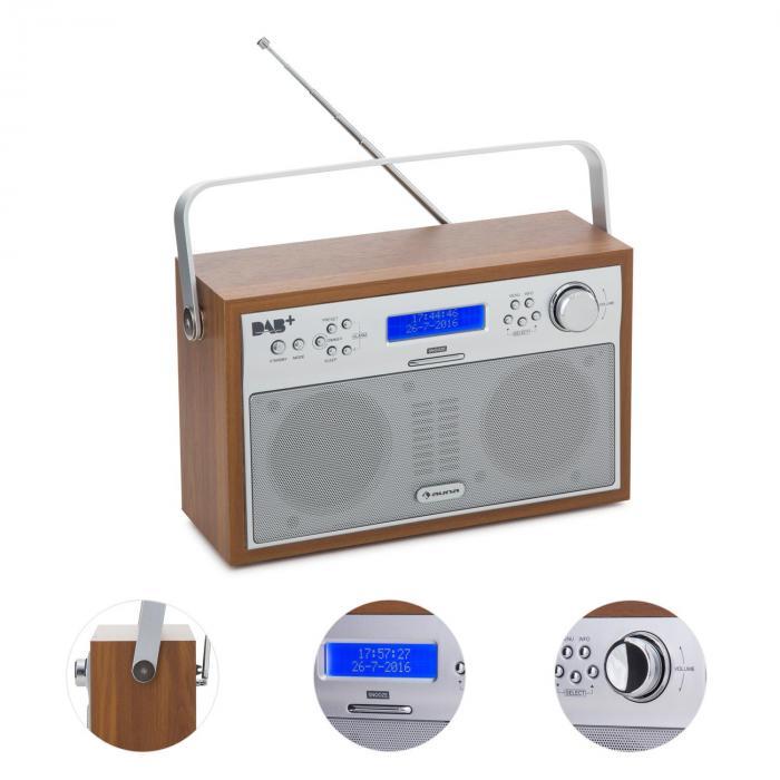 Akkord radio num rique portable dab pll tuner fm alarme for Radio numerique portable