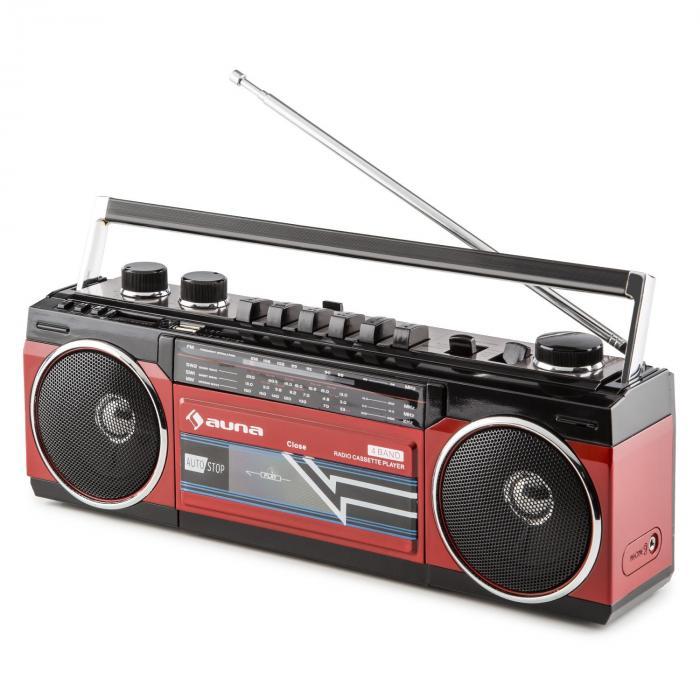 duke retro boombox portable cassette player usb sd. Black Bedroom Furniture Sets. Home Design Ideas