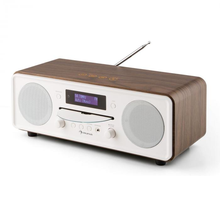 melodia cd dab fm desktop radio cd player bluetooth alarm snooze walnut walnut purchase online. Black Bedroom Furniture Sets. Home Design Ideas