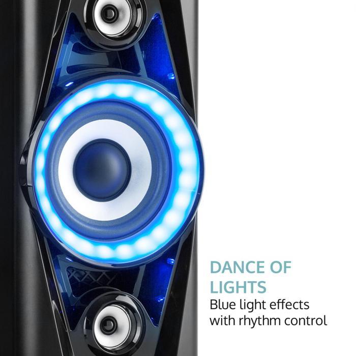 pps 35 syst me audio enceinte bluetooth 2x usb mp3 aux fm led micro. Black Bedroom Furniture Sets. Home Design Ideas