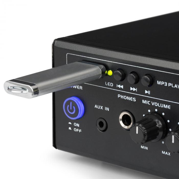 Amp3 USB Mini-Stereo-Verstärker Mikrofon- und Kopfhörer-Anschluss ...