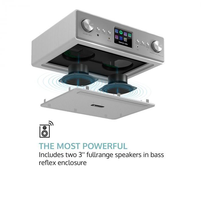 connect soundchef kitchen radio with tablet holder dab fm 2x3 boxes - Kitchen Radio