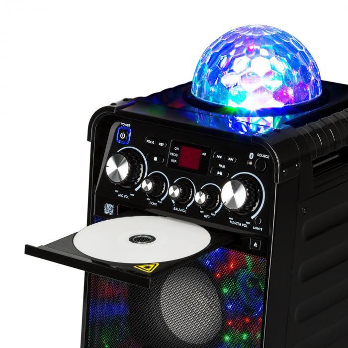 rockstar led karaokeanlage cd player bluetooth aux 2 x 6. Black Bedroom Furniture Sets. Home Design Ideas