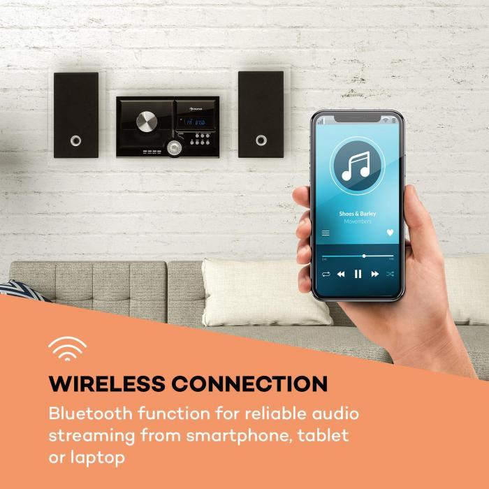 stereosonic syst me st r o lecteur cd usb mp3 aux bluetooth noir. Black Bedroom Furniture Sets. Home Design Ideas