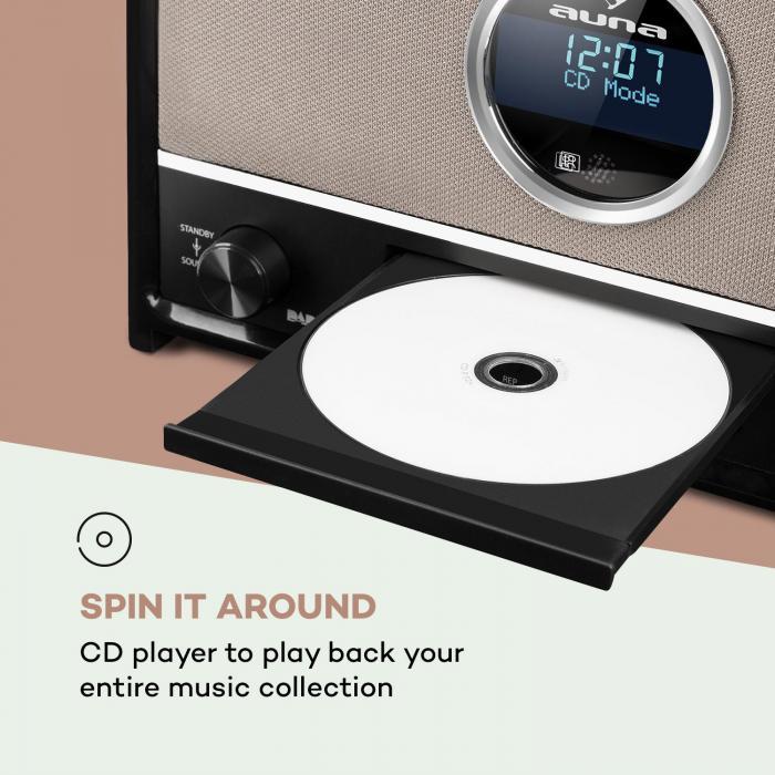 columbia dab radio 60 w max cd dab fm tuner bt mp3. Black Bedroom Furniture Sets. Home Design Ideas