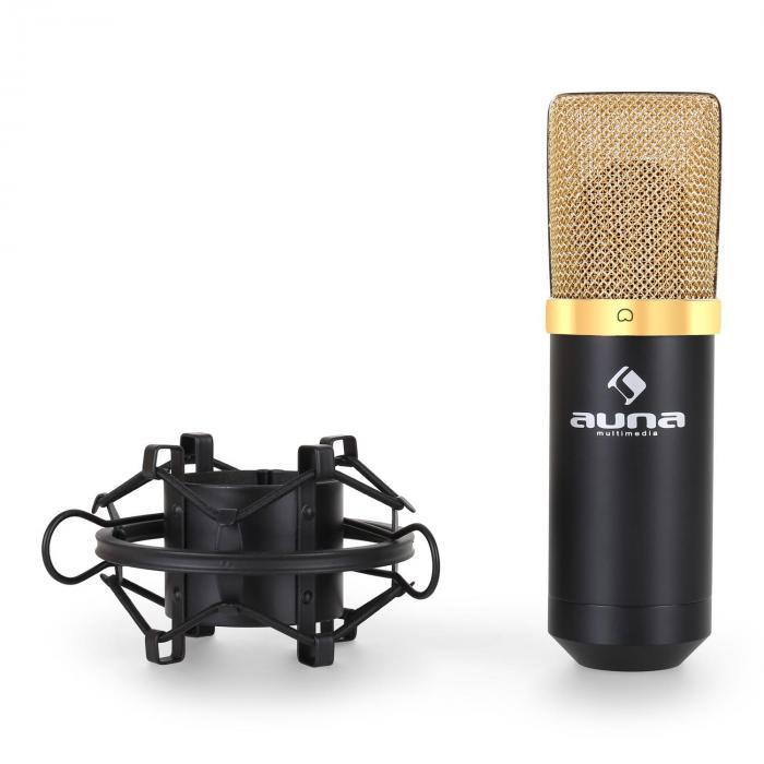 mic 900bg usb kondensator mikrofon schwarz goldniere studio schwarz gold online kaufen. Black Bedroom Furniture Sets. Home Design Ideas