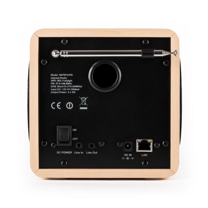 radio gaga internet radio wifi dab dab usb creme. Black Bedroom Furniture Sets. Home Design Ideas