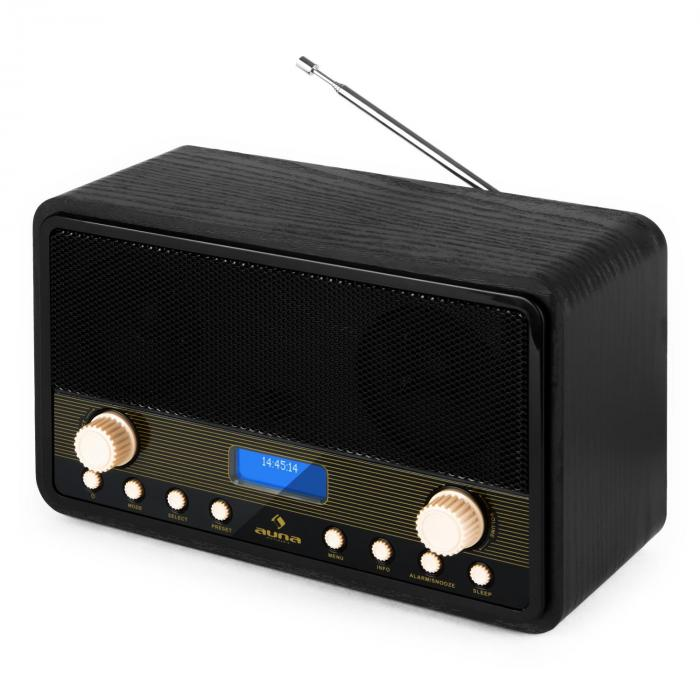digidab retro radio digital dab pll despertador. Black Bedroom Furniture Sets. Home Design Ideas