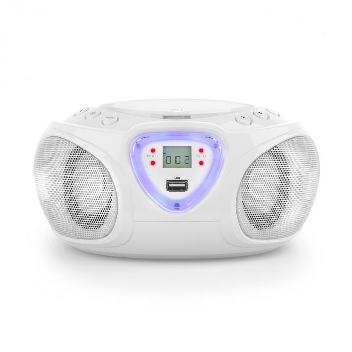 Roadie Boombox CD USB MP3 MW/UKW-Radio Bluetooth 2.1 LED-Farbspiel ...