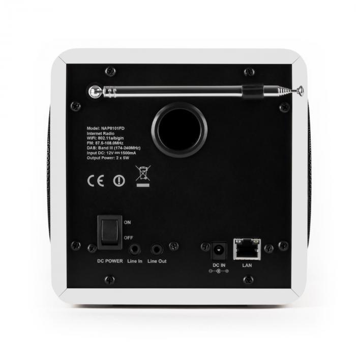radio gaga internet radio wlan lan dab dab fm usb aux white purchase online. Black Bedroom Furniture Sets. Home Design Ideas