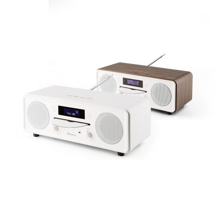melodia cd dab fm desktop radio cd player bluetooth alarm snooze white white purchase online. Black Bedroom Furniture Sets. Home Design Ideas