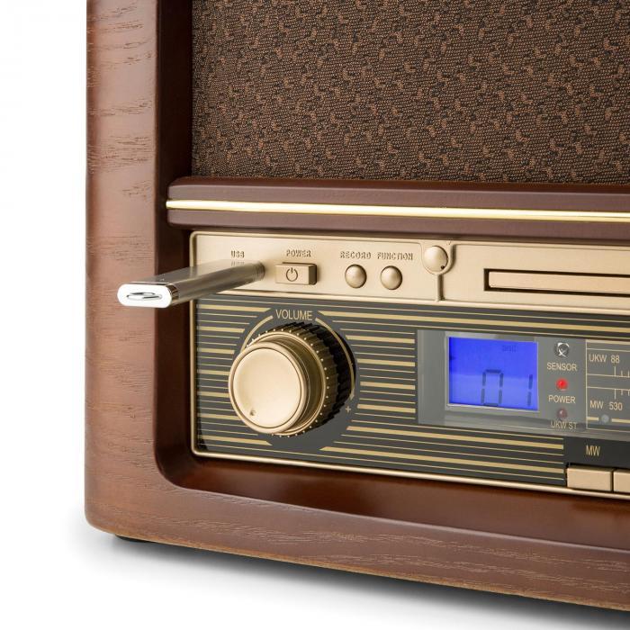 belle epoque 1906 retro stereo system cd usb mp3 aux am. Black Bedroom Furniture Sets. Home Design Ideas